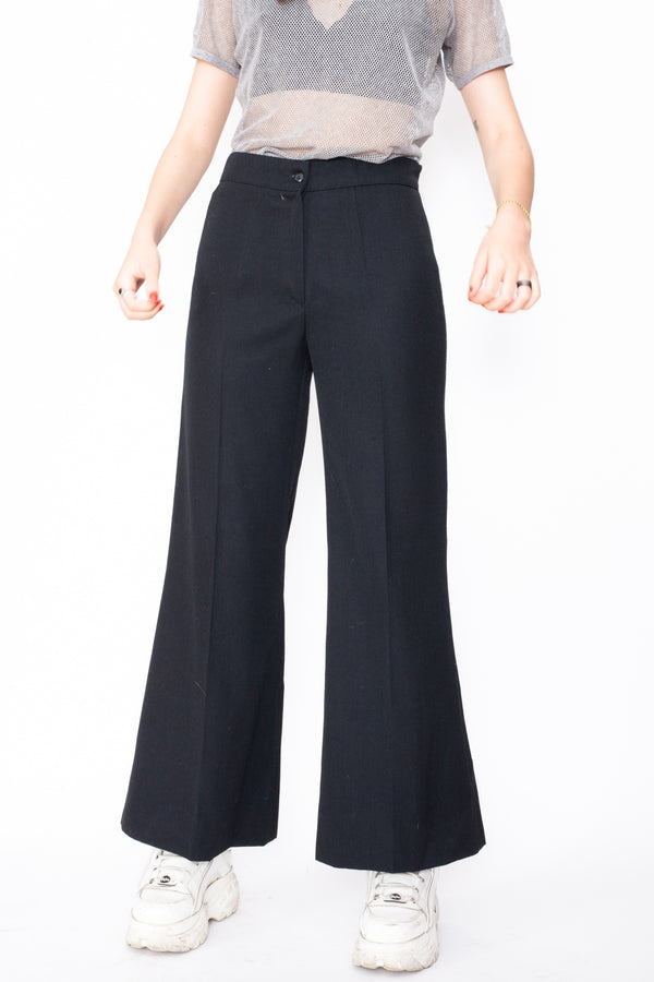 Vintage 70s Flared Work Trousers - The Black Market