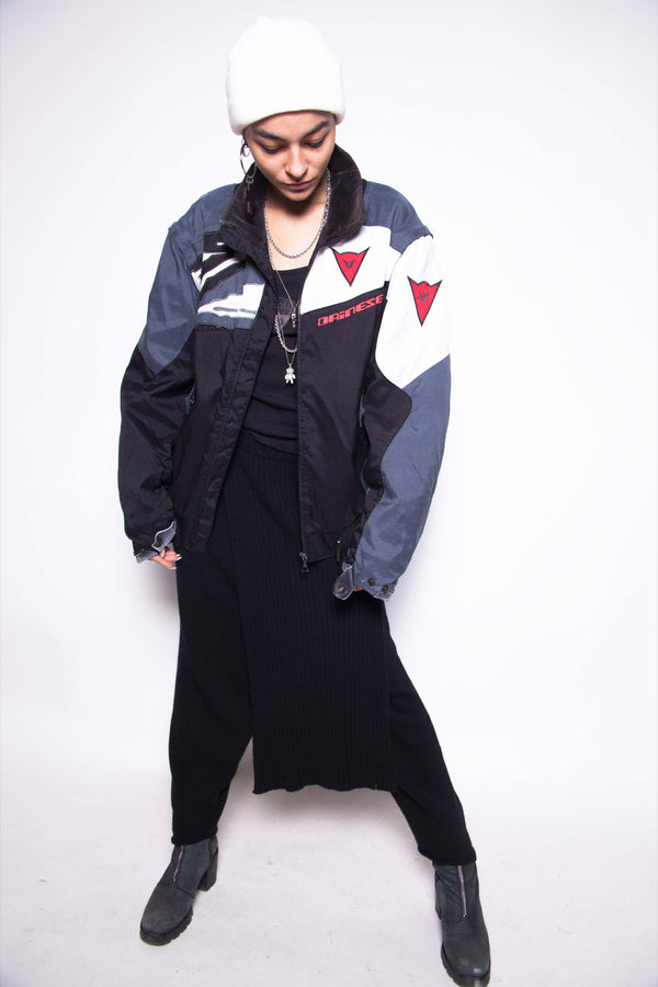 Vintage 90s Dainese Padded Bomber Jacket - The Black Market