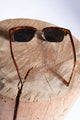 Brown Unisex Leopard Print Sunglasses