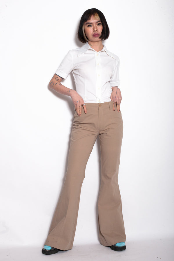Espirit Beige High Waist Flared Trousers