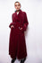 Vintage 90s Emporio Armani Red Velvet Coat - The Black Market