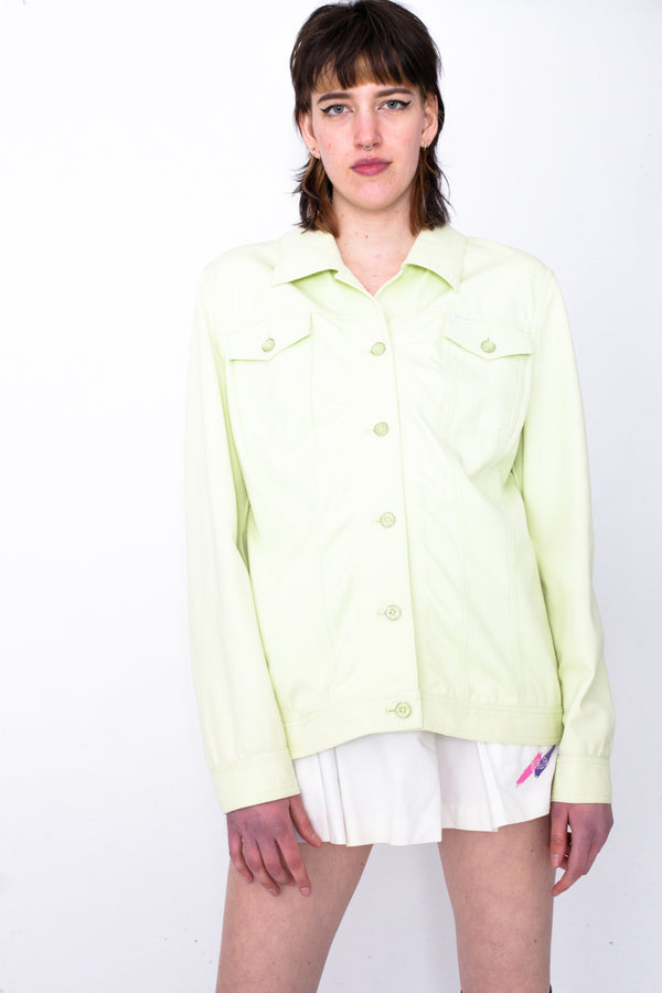 Vintage 90s Escada Lime Green Jacket