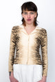 Y2K Just Cavalli Zebra Print Beige Top
