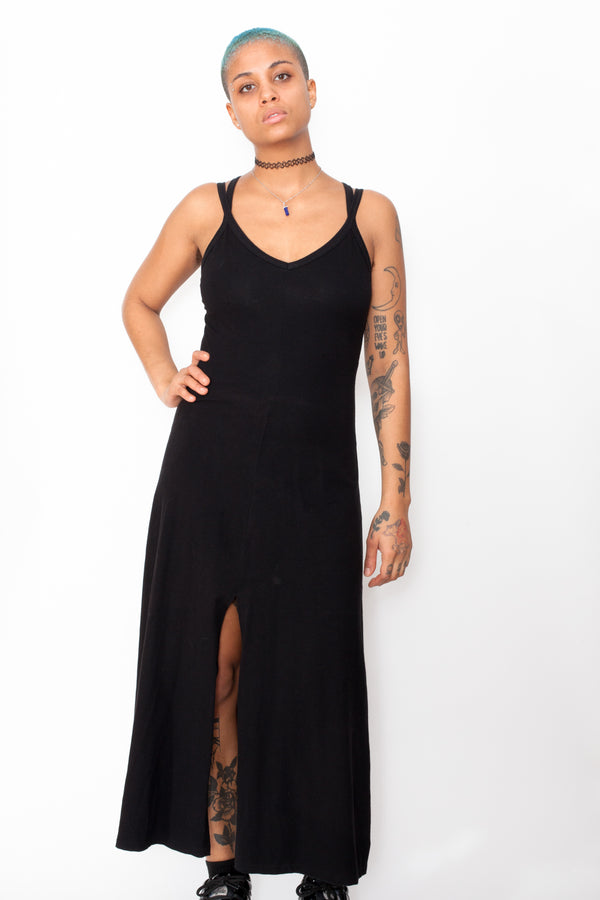 Vintage 90s Goth Maxi Dress - The Black Market