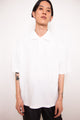 Vintage 90s Fendi White Oversized Polo Shirt