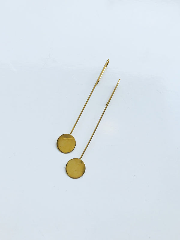 PENDULUM Brass Earrings by Pulva