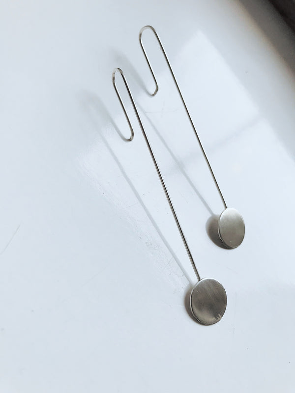 PENDULUM Sterling Silver Earrings by Pulva - The Black Market