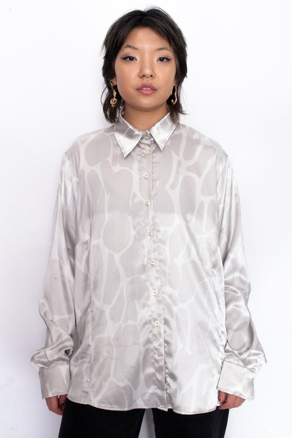 Vintage 90s Satin Pattern Shirt