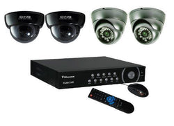 CCTV Camera Package, Clover 4ch DVR 1TB HDD, 4 Dome Cameras - smart security club
