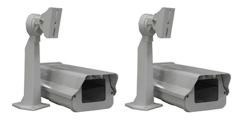Outdoor Camera Housing with Heater, Fan & Mounting Bracket, Pack of 2 - smart security club  - 1