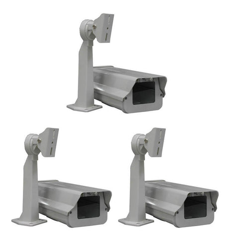 Outdoor Camera Housing with Heater, Fan & Mounting Bracket, Pack of 3 - smart security club  - 1