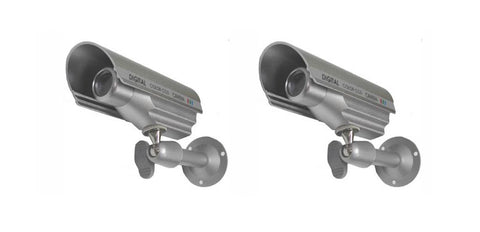Pack of 2 Outdoor 600 TV Line Bullet Cameras, Made in Korea - smart security club