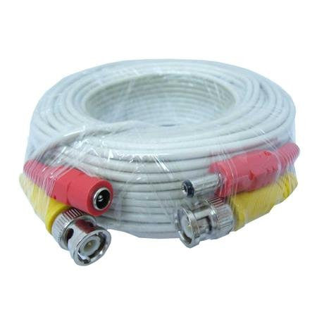 30ft pre-made video/power cable & BNC female coupler - smart security club  - 1