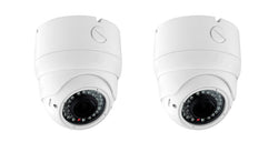 700 TV Line Effio-E Outdoor IR Dome Camera, Pack of 2 - smart security club