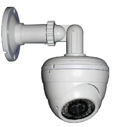 IR Dome Camera with Mounting Bracket 700 TV Lines, Cable-Through Bracket - smart security club