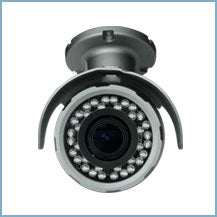 D-max, DMC-3036BZW - Weather Proof Bullet  3 Mega Pixel IP Camera with  D. 2.8-12mm Motorized lens. Made in Korea