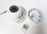 2 megapixel 1080P vandal-proof IR dome AHD camera with 2.8~12mm lens & junction base - smart security club  - 3