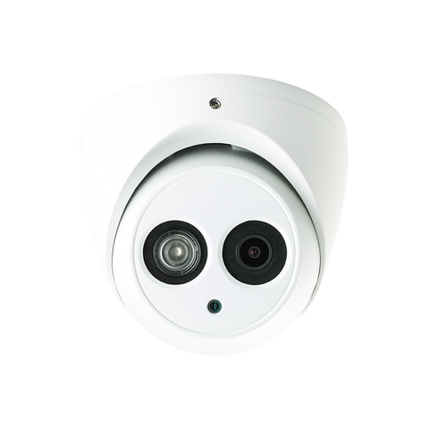 HDW4431EM-AS 4MP 2.8mm Lens POE Built-In Mic IR Eyeball Network CCTV Dome Camera SD Card Slot