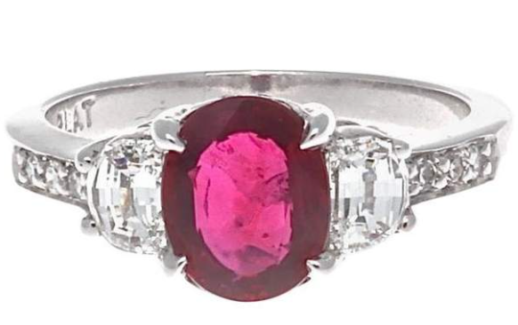 Pigeon Blood Ruby Diamond Ring
