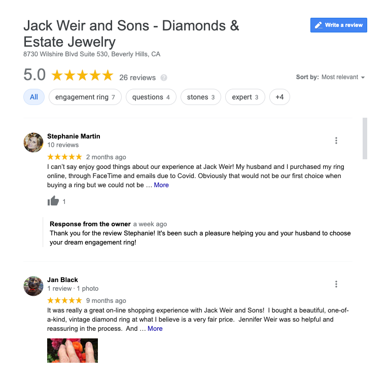 Jack Weir & Sons reviews