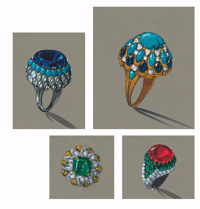 harry winston cocktail rings