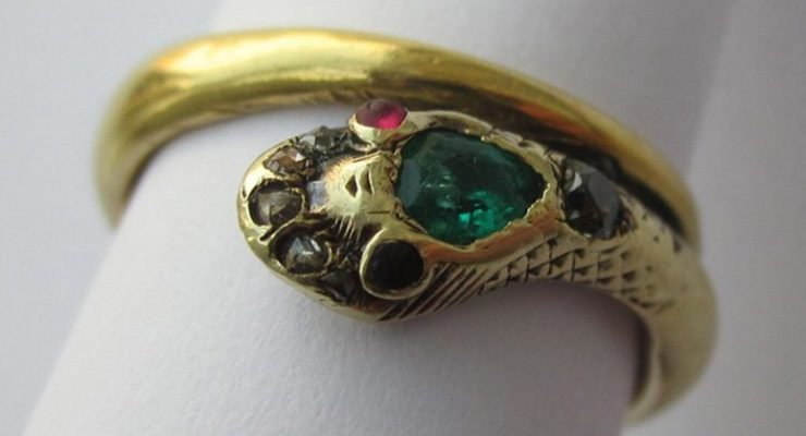 Queen Victoria Snake Engagement Ring