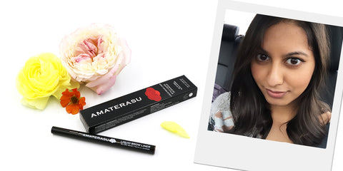 My personal experience with this Liquid Brow Liner Amaterasu Beauty Natural Makeup 24 hours clean