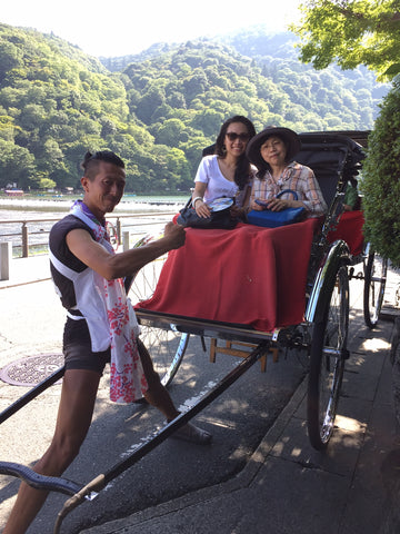 Rickshaw ride in Arashiyama