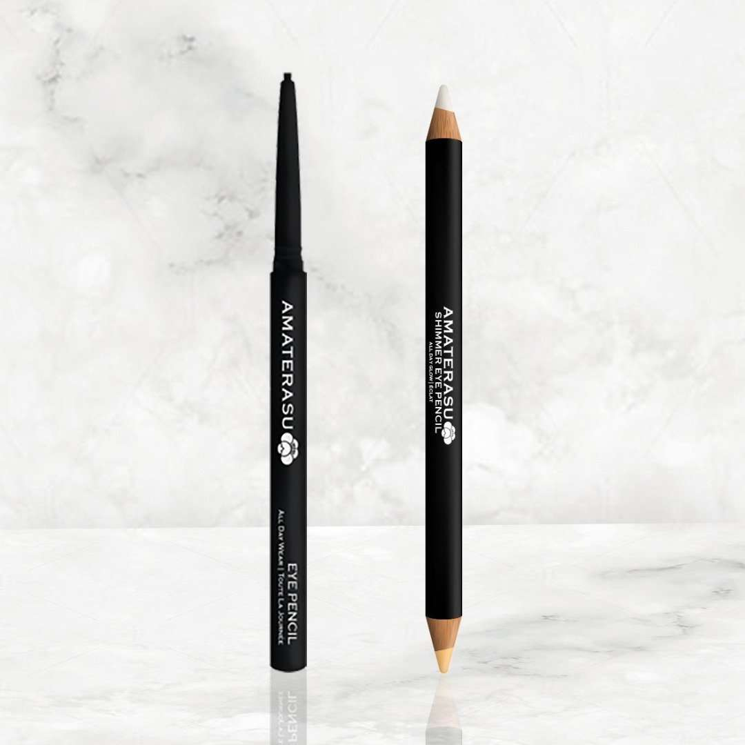 Shimmer glow duo pencil - 1 Eye Pencil and 1 Shimmer Eye Pencil together as a set.