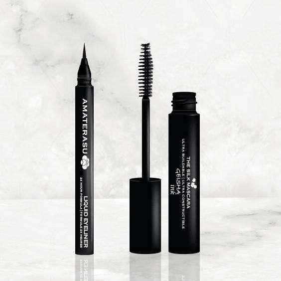 MATRIMONY SET 1 LIQUID EYELINER 1 SILK MASCARA - makeup eyes