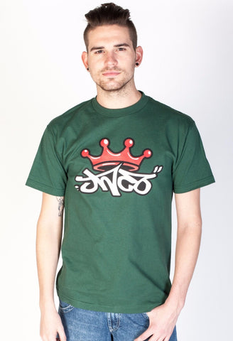 Crown Tee Forest Green