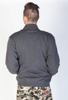 JNCO Universal Zip Up Fleece Jacket-Charcoal