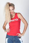 JNCO Logo Tank Top- Red