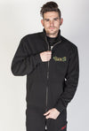 JNCO Sidewinder Zip Up Fleece Jacket- Black