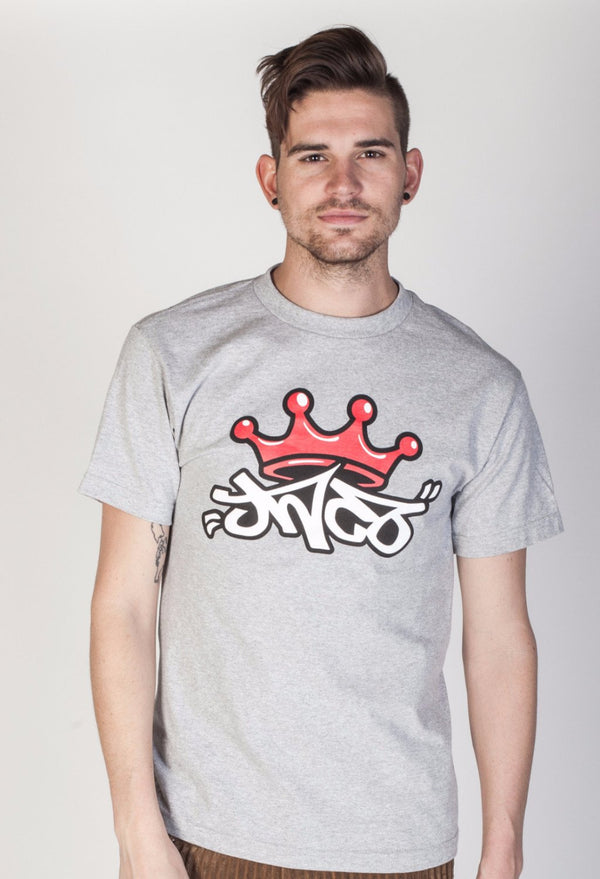 JNCO Men's Crown Tee Heather Gray