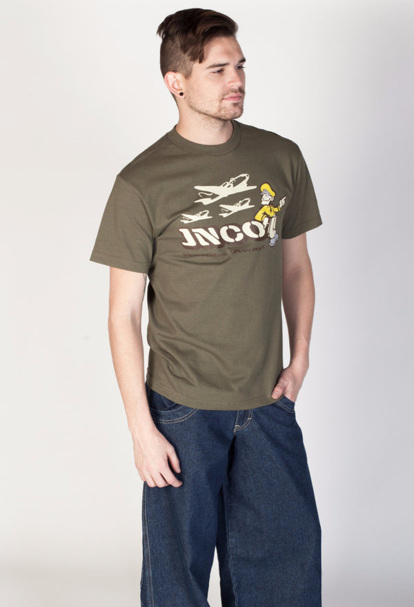 JNCO Bombs Away Tee- Olive