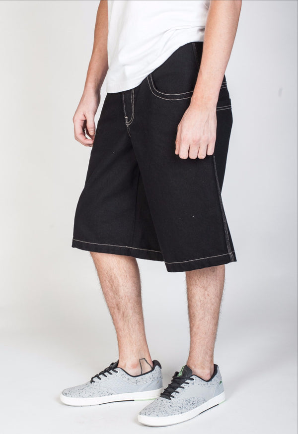 "Heritage - JNCO Industries Shorts Black- 13"" Inseam"