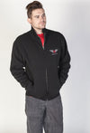 JNCO Official Zip Up Fleece Jacket-Black