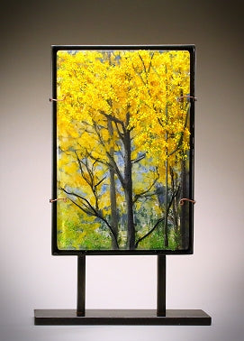 Change of Seasons Dimensional Glass Sculpture