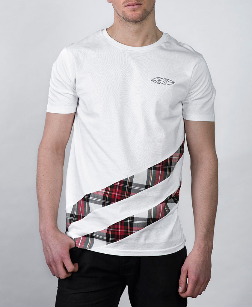 Double Trim T-shirt in White Front