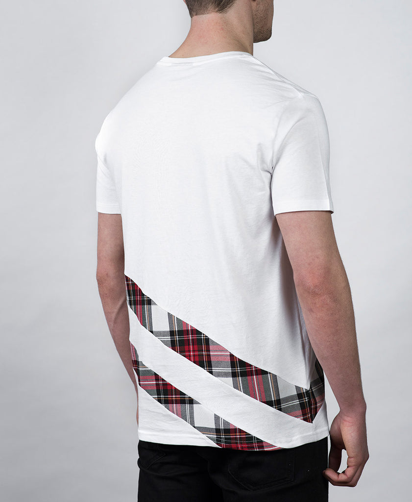 Double Trim T-shirt in White Rear