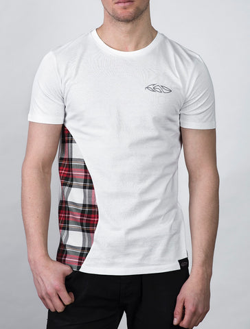 Double Trim T-shirt  (White)
