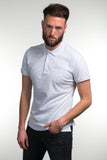 Slim-Fit G69 Emblem Polo Shirt - Steel