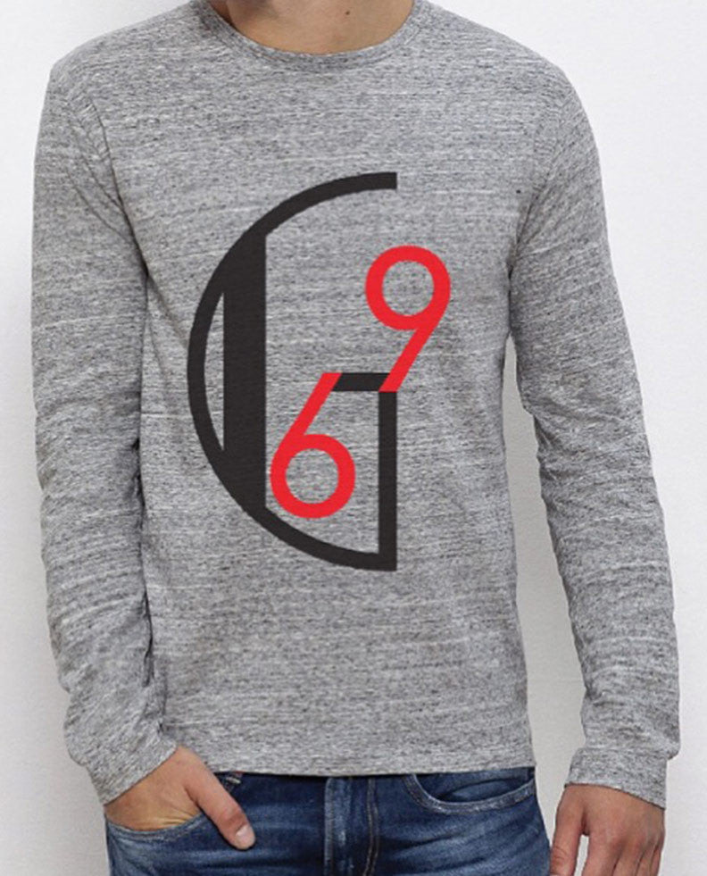 Rennie Grey Slub Long Sleeve Tee