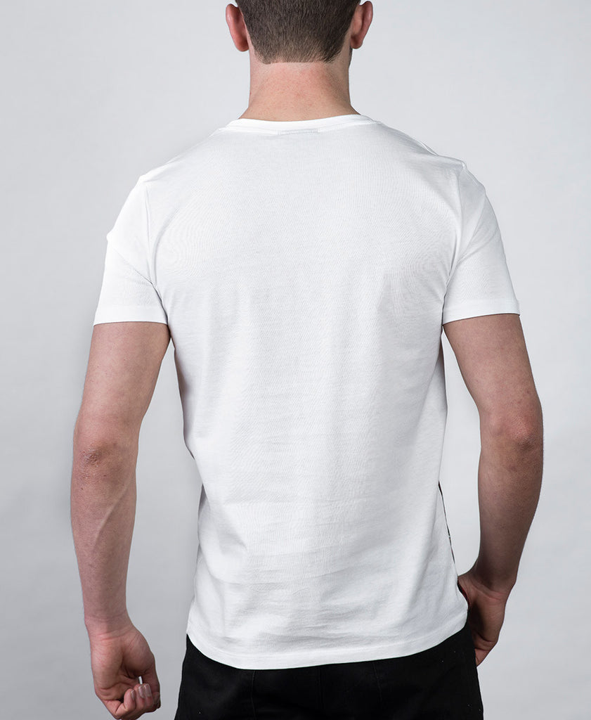 Side Panel T-shirt in White Rear