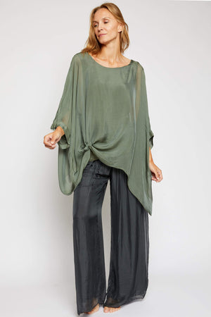 Italian Silk Soft Flowing Top - Jacqueline B Clothing