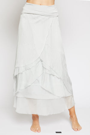 Italian Silk Skirt - Jacqueline B Clothing
