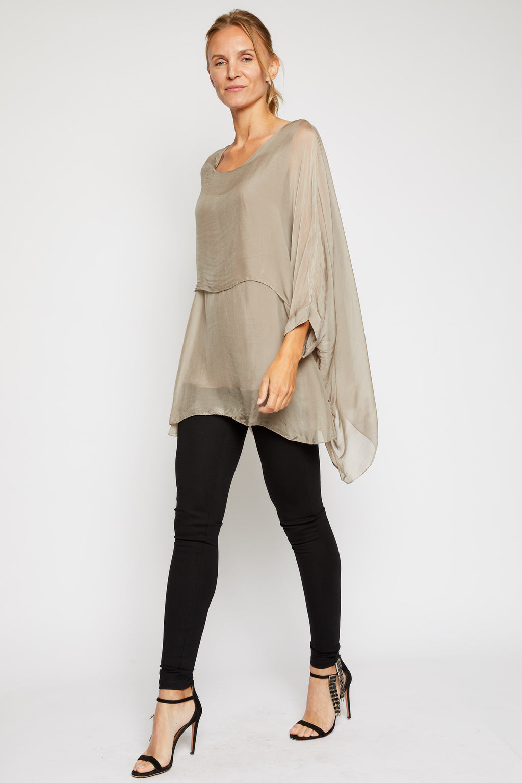 Italian Silk Teared Front - Jacqueline B Clothing