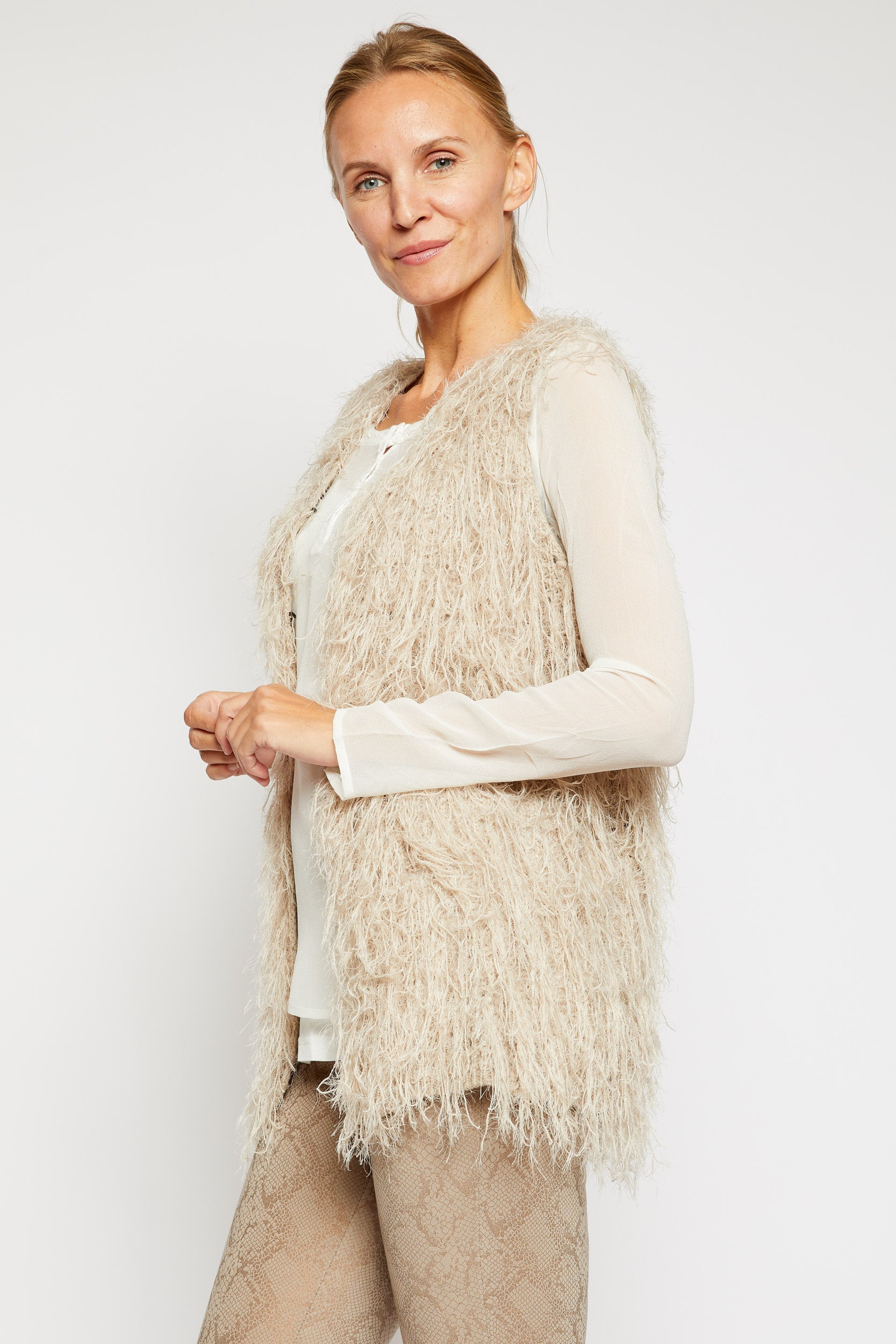 Furry Sweater Vest - Jacqueline B Clothing