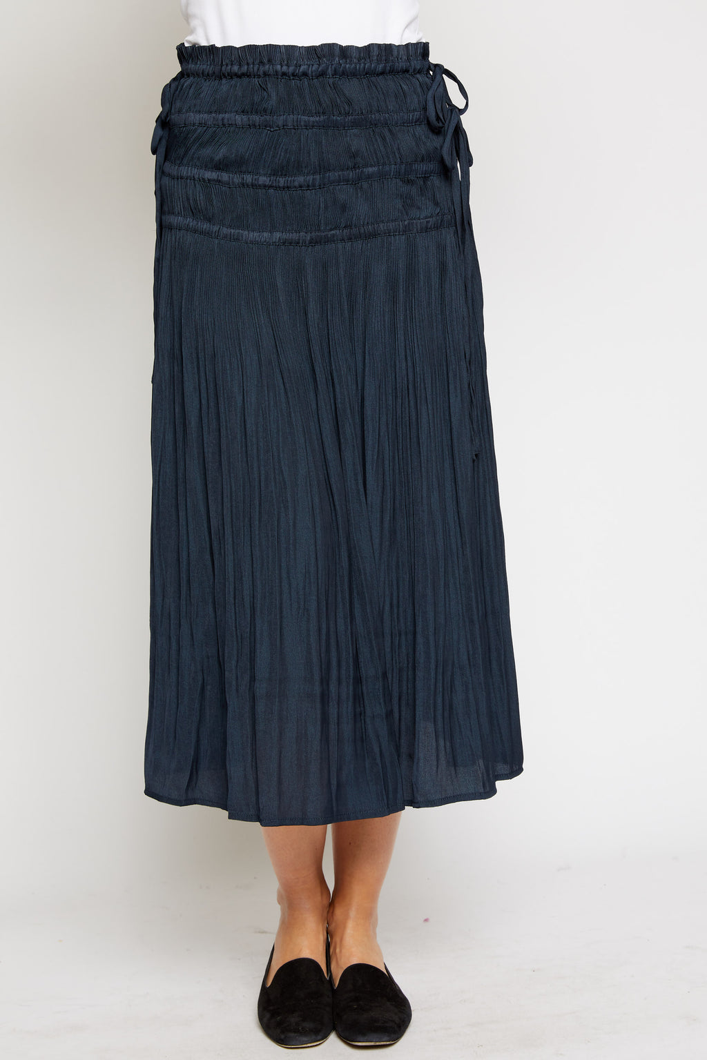 Pleated Mid Length Skirt - Jacqueline B Clothing